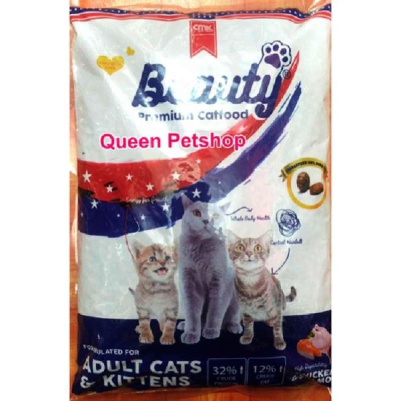 Beauty cat food adult kitten 1kg Makanan kucing beauty adult dan kitten 1kg