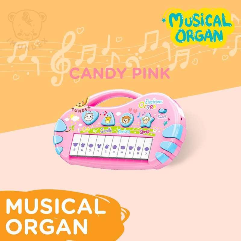 Musical Organ Piano Anak Bayi BPA Free SNI Candy Pink
