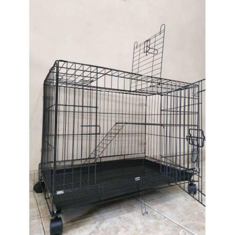 kandang kucing tingkat 1 75x50x50