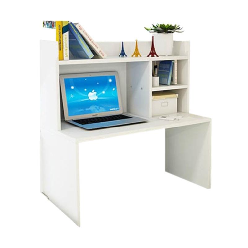 Best Furniture Mini Desk Lesehan Meja Laptop / Belajar dan Rak Sebaguna - Putih