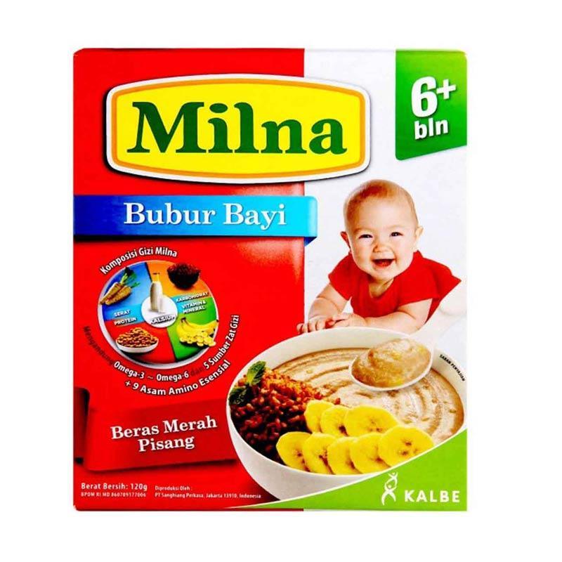 harga Milna Beras Merah Pisang Bubur Bayi [120 g] Blibli.com