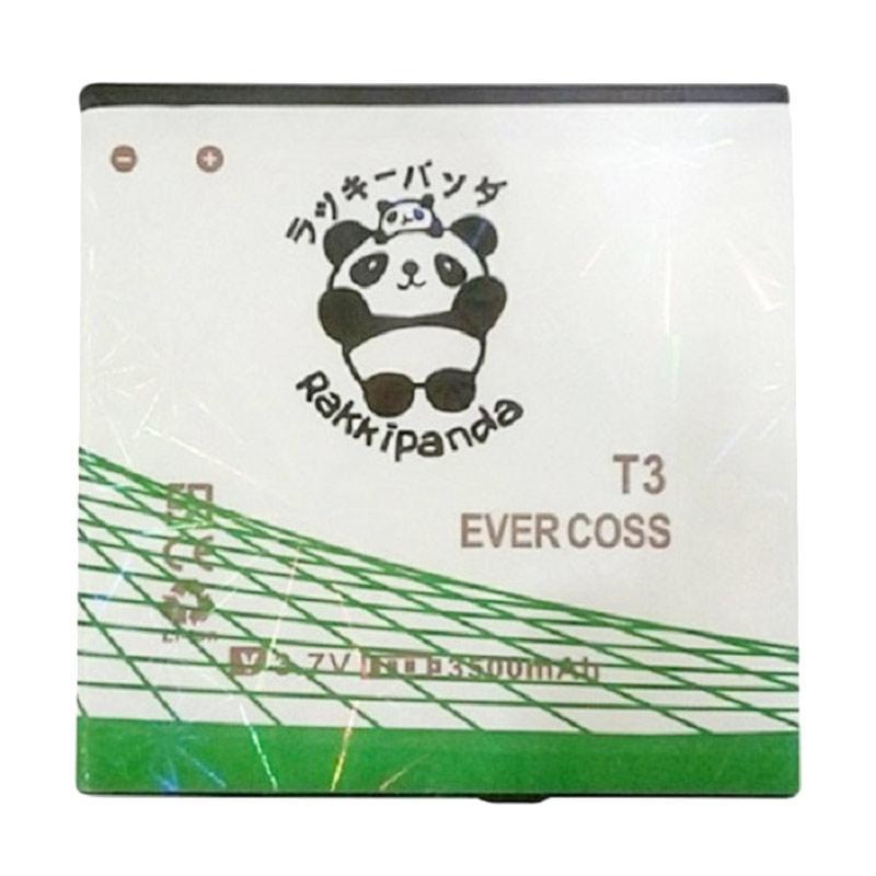 RAKKIPANDA Double Power IC Baterai for EVERCOSS T3 [3500 mAh]