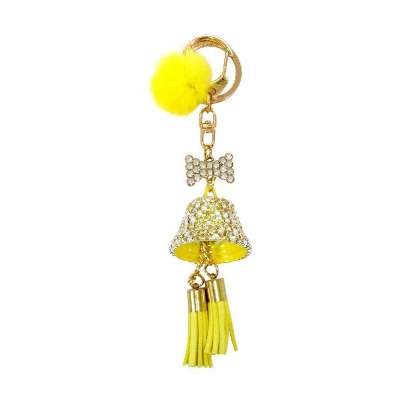 SIV BELL05 Key Chain Lonceng Bell Kombinasi Manik Gantungan Kunci - Kuning