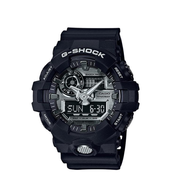 Casio G-Shock Strap Resin Jam Tangan Pria - Black GA-710-1ADR