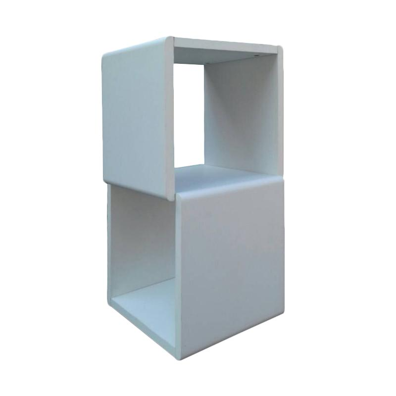Best Furniture Best Cool20 Cube Rak Buku dan Pajangan Serbaguna - Putih [4 Space]