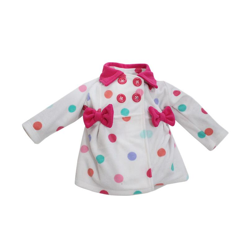 Bibbo Baby Blazer Rainbow Dot Jaket Bayi Perempuan - White