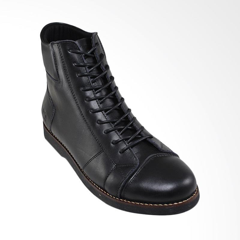 harga Sauqi Footwear Bally Boots Kulit Sapi Asli Sepatu Pria - Black Blibli.com