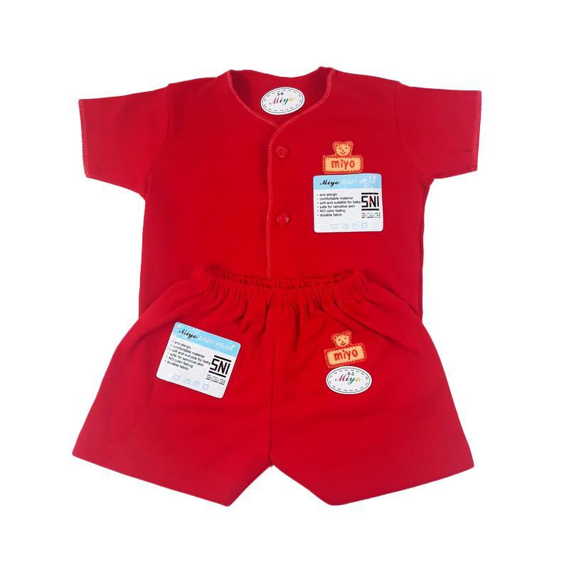 Miyo Setelan Baju Pendek dan Celana Pendek Bayi - Merah
