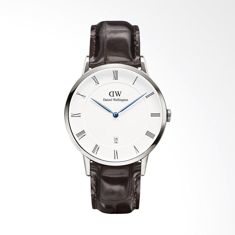 Daniel Wellington 1122DW-SV - DW00100089 Dapper York Unisex Leather Jam Tangan - Silver [38 mm]