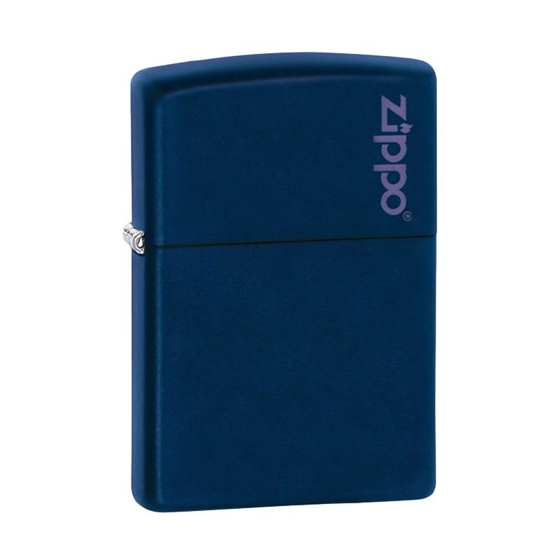 Zippo Logo Pocket Lighter - Navy Matte
