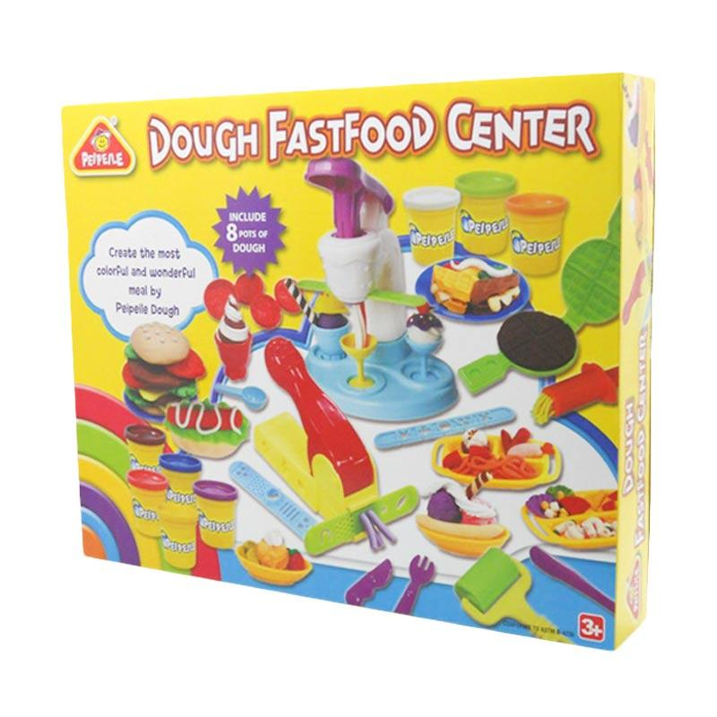 PEIPEILE Play Dough Fast Food Center Mainan Lilin Anak