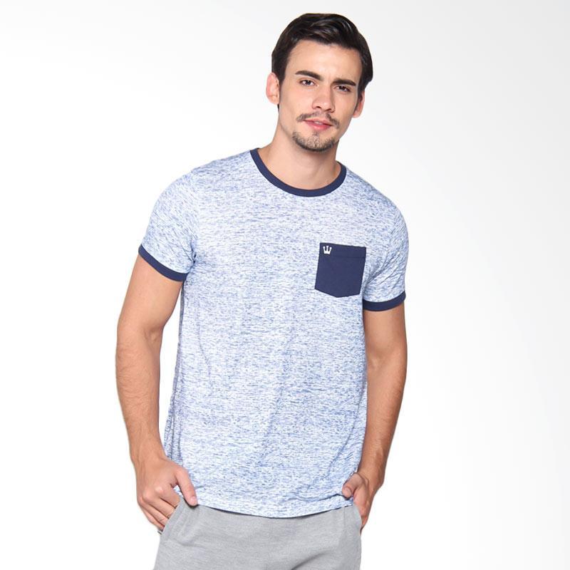 3Second 1409 Tshirt Pria - Blue 114091712