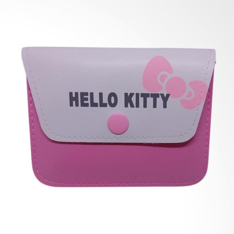 Hello Kitty Face Love HK Dompet Wanita - White Pink