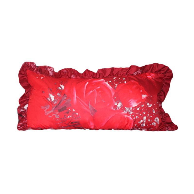 Monalisa Motif Tulip Merah Sarung Bantal Cinta [45 x 95 cm]