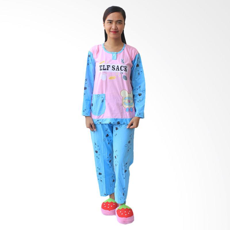 Aily 476 Setelan Baju Tidur Wanita - Pink Pastel