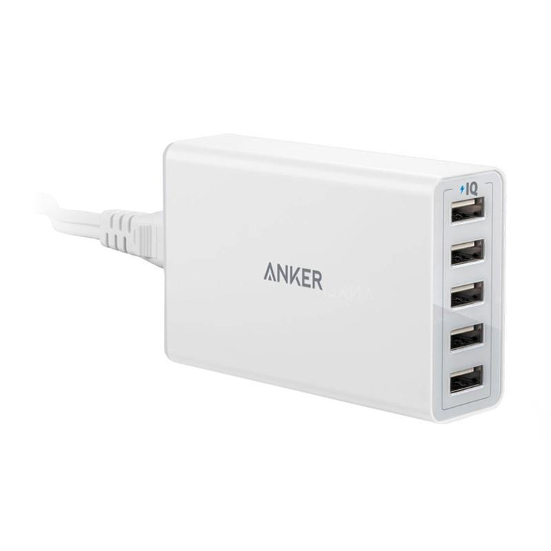 Anker Multi-Port USB Charger [40W-8A/ 5 Port/ PowerPort 5]