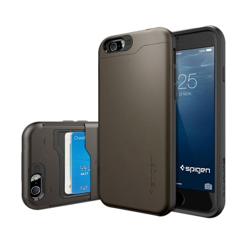 Spigen Slim Armor Casing for iPhone 6 4.7 Inch - Gunmetal