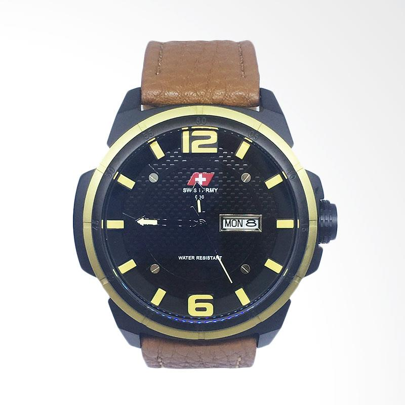 Swiss Army 6038 Jam Tangan Pria - Brown Yellow