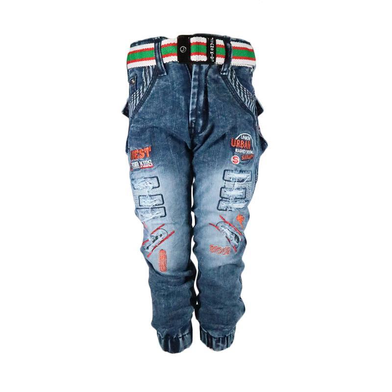 Sanjaya Celana Panjang Joger Jeans Anak Laki-Laki [Usia 4-5 tahun]