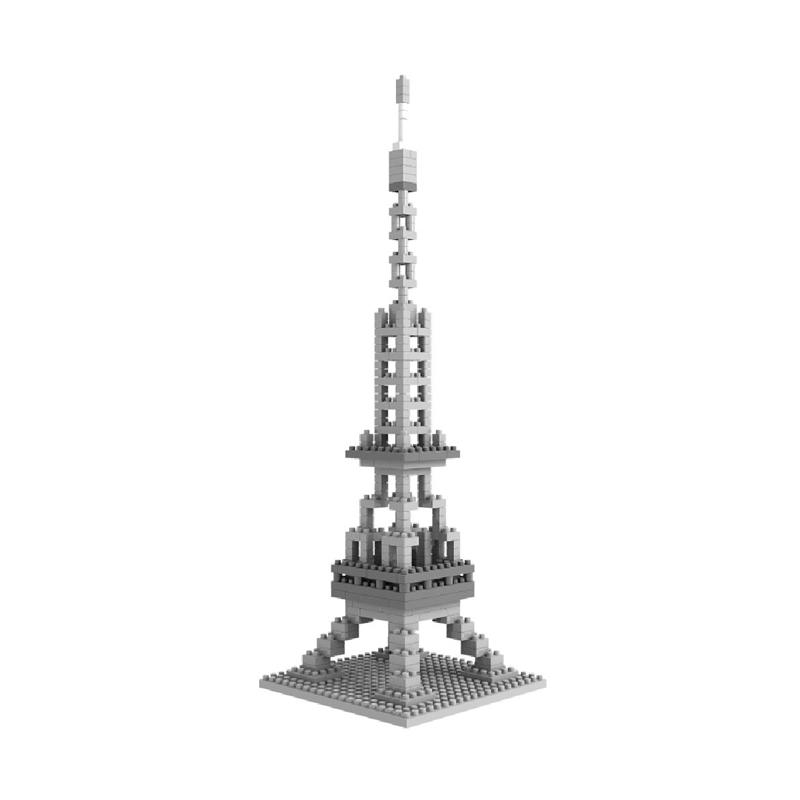 Loz Diamond Block World Famous Architecture Series 9361 Eifel Tower Mainan Blok & Puzzle