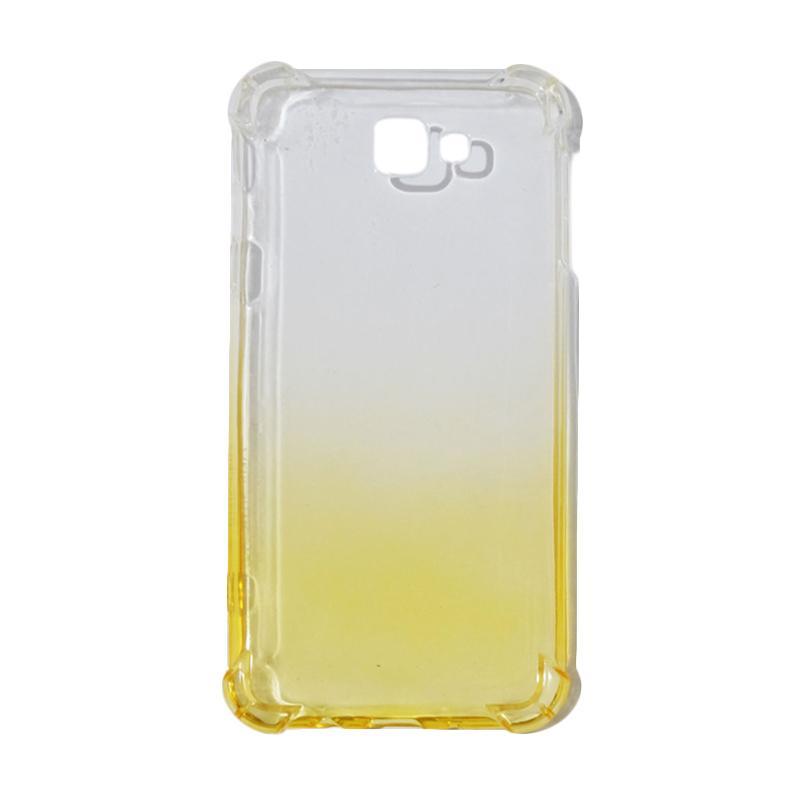 QCF BUY 1 GET 1 Softcase Anti Shock Anti Crack Warna Gradasi Casing for Samsung Galaxy J5 Prime Ultrathin / Case Unik - Yellow (Free Warna Random)