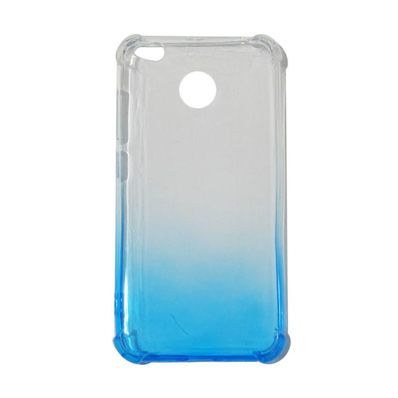 QCF BUY 1 GET 1 Softcase Anti Shock Anti Crack Warna Gradasi Silicone Casing for Xiaomi Redmi 4X Ultrathin / Case Unik - Biru (Free Warna Random)