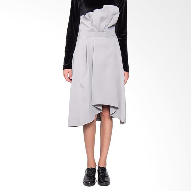 Hunting Fields SK002 Rhodea Skirt Wanita - Light Grey