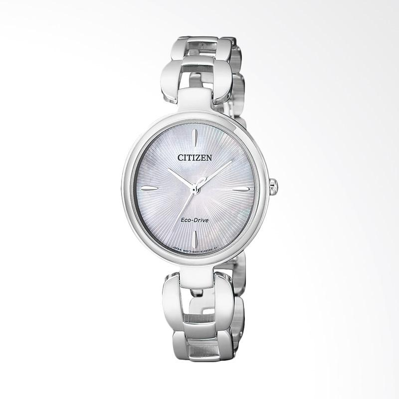 Citizen EM0420-89D Eco-Drive Elegant Sunray Mother Jam Tangan Wanita - Silver