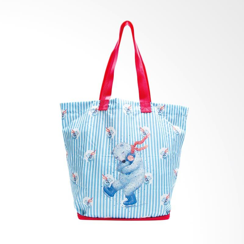 IPC Mansion Selected Jimmy Polar Bear Hugging Boy Tote Bag Tas Wanita - Sky Blue