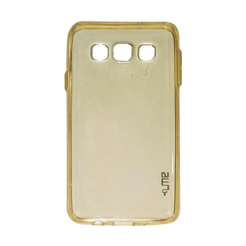 Ume Ultrathin Silicone Jelly Softcase Casing for Samsung Galaxy E5 E500 - Kuning