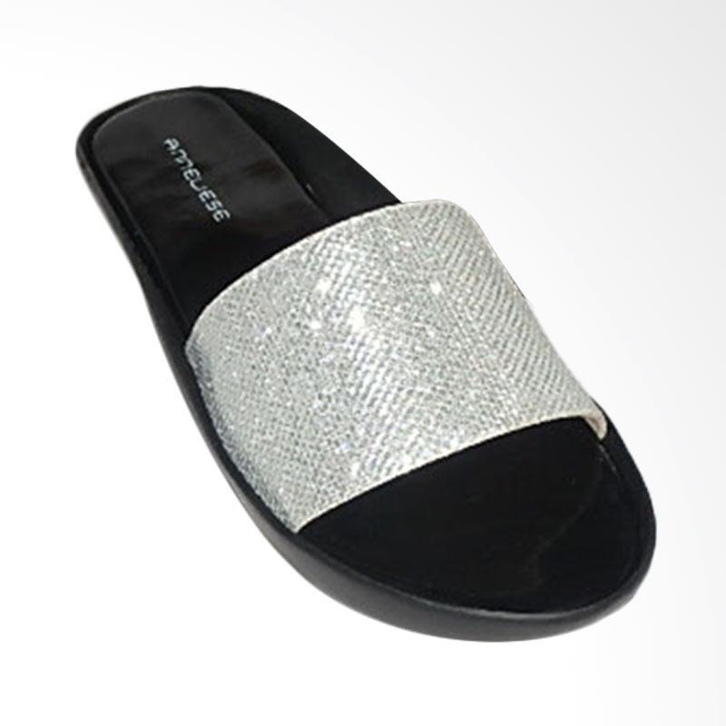 Anneliese Alexa Sandal Flat Wanita - Silver