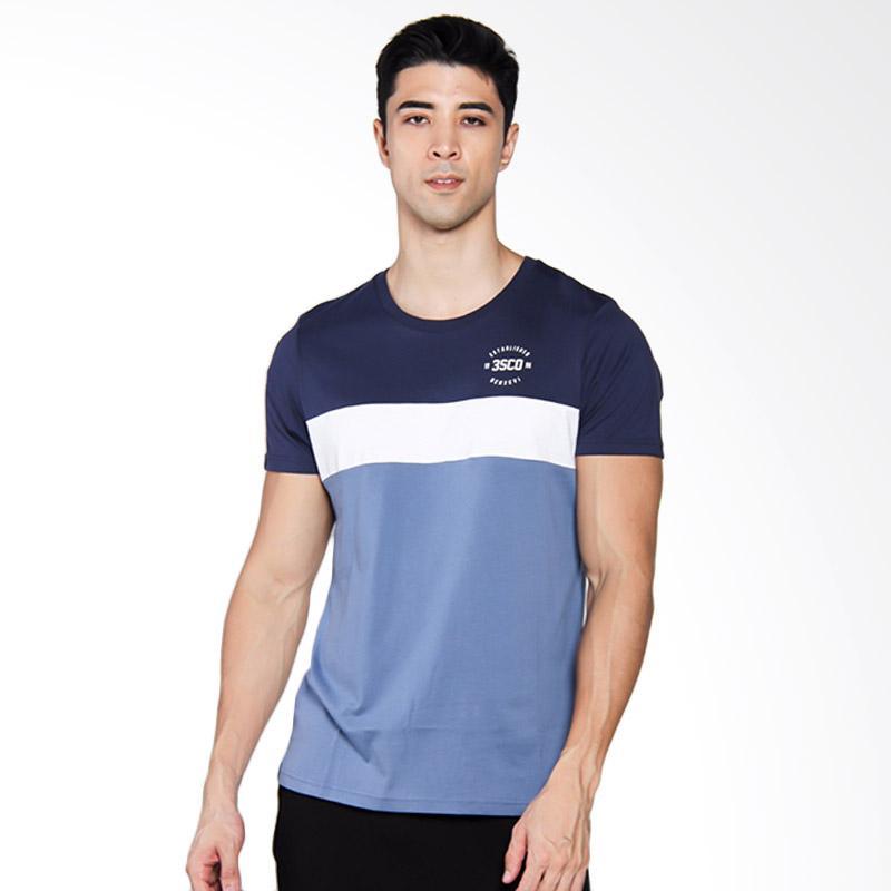 3SECOND 4104 T-shirt Pria - Blue [141041712]