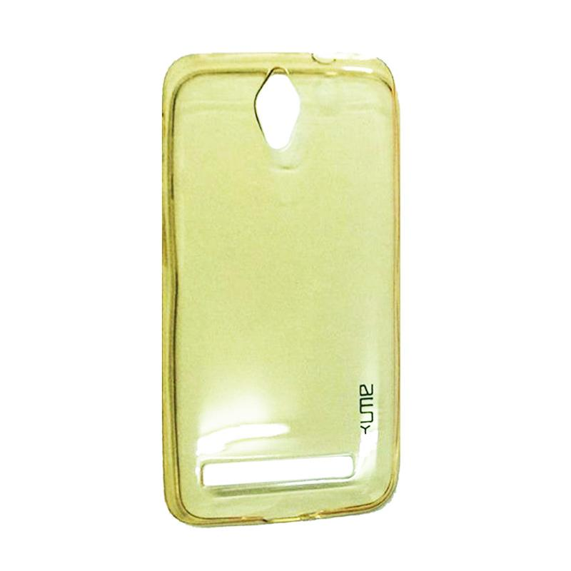 Ume Ultrathin Silicone Jelly Softcase Casing for Asus Zenfone C ZC451CG - Kuning