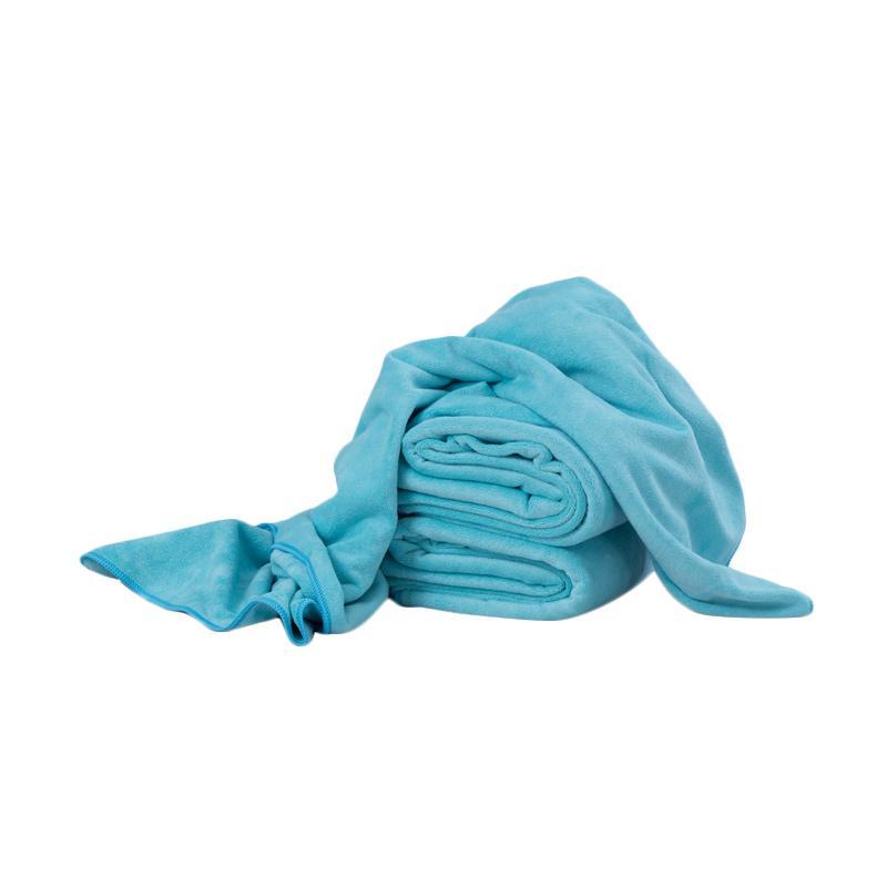 Quickdry Bath Towel Cyan 70 x 140 cm