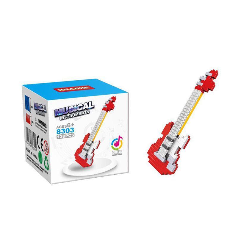 HSANHE 8303 Guitar Mainan Blok & Puzzle