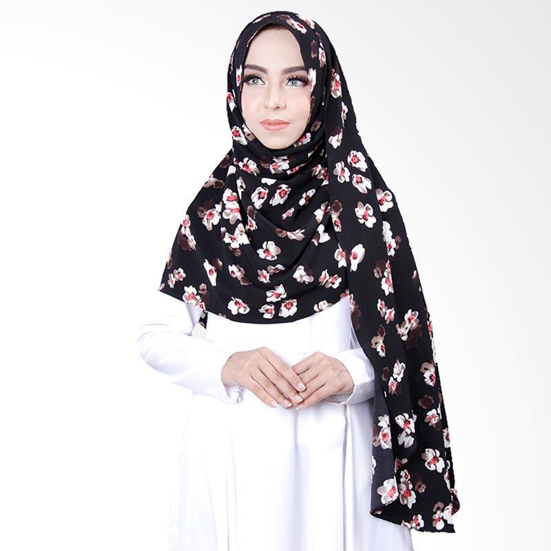 Cantik Kerudung Khloe Printed Hijab Instant - Black No.5