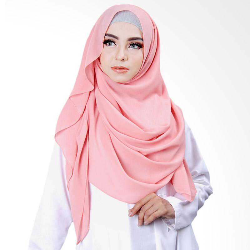 Cantik kerudung Khloe Slip In Jilbab Instant - Salmon Pink No.9