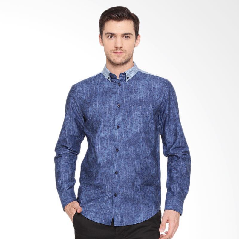 A&D Fashion Long Sleeve Kemeja Pria - Lt Blue [Ms 934]
