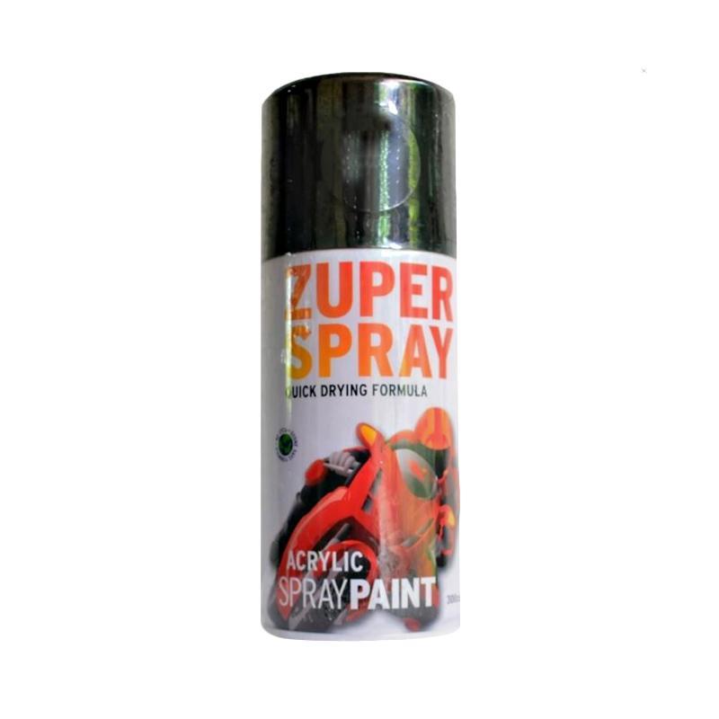 RJ Zuper Acrylic Spray Paint Cat Semprot - Black [300 cc] CAT9156