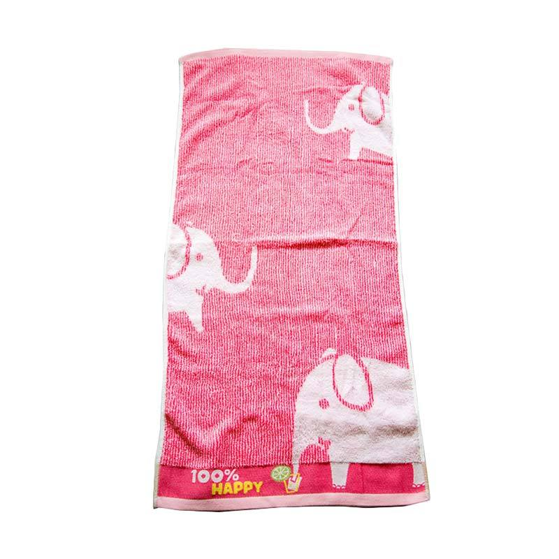 Dixon Happy Elephant 7066 Handuk Mandi - Pink [60 x 120 cm]
