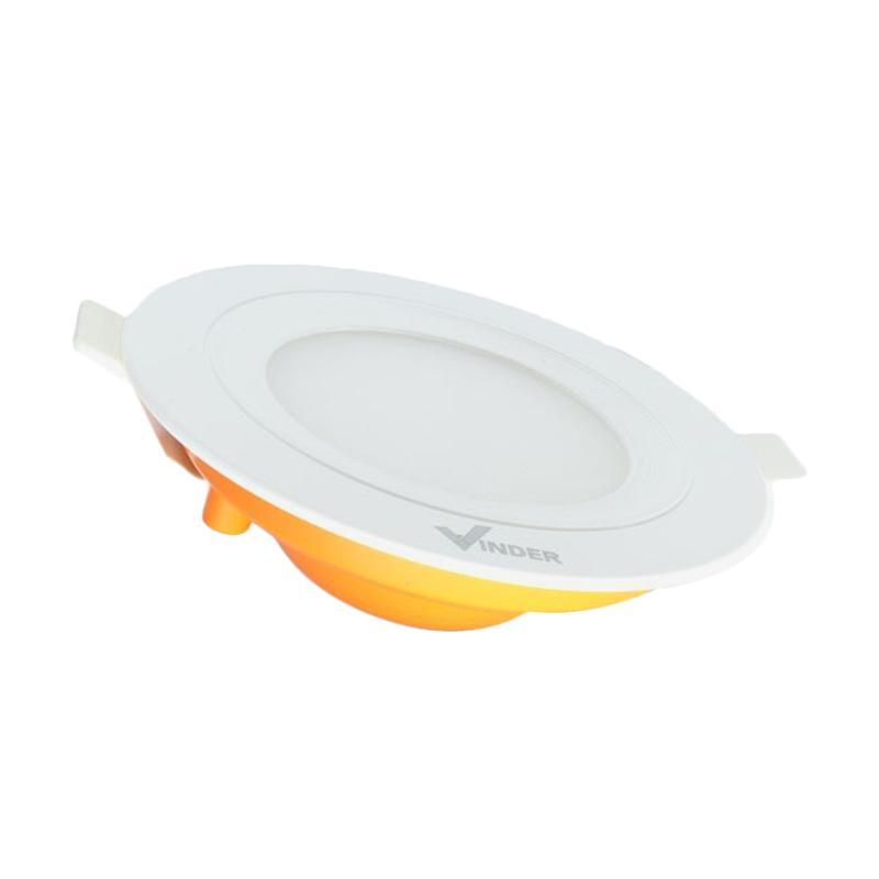 Vinder Slim Downlight Panel Round Lampu - Warm White [3 W/3000 K]