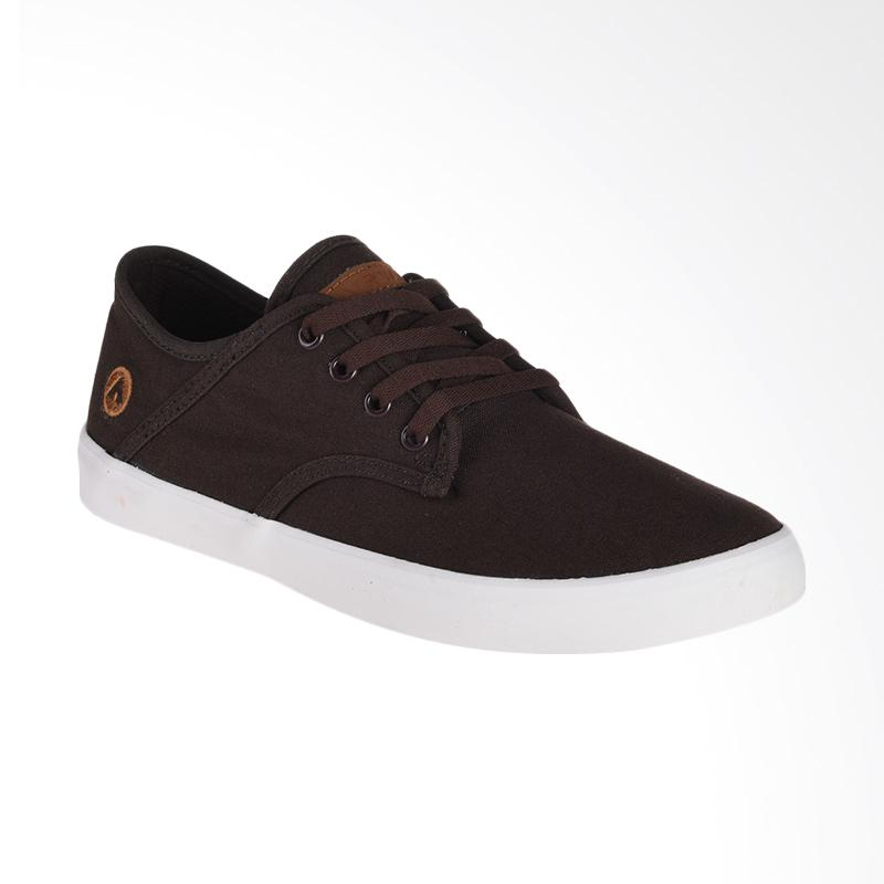 Airwalk Jisaac Sneaker Pria - Dark Brown [AIW17CV0244S]