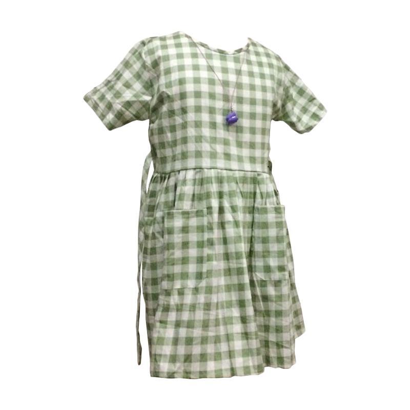 Kirana Kids Wear Dona Dress Anak - Green Lime Square
