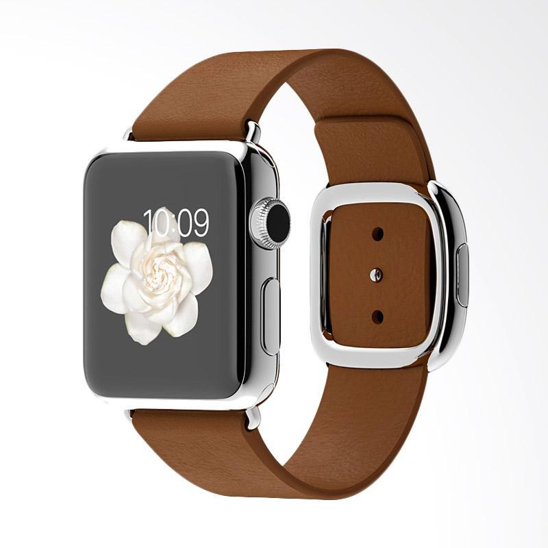 Apple Watch Stainless Steel Case Modern Buckle MJ3C2 Smartwatch - Brown [38 mm]