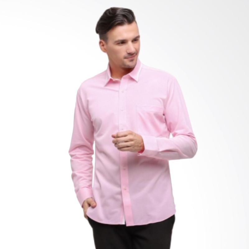GT Man Long Sleeves Shirt Kemeja Pria - Pink [KGT004PK]