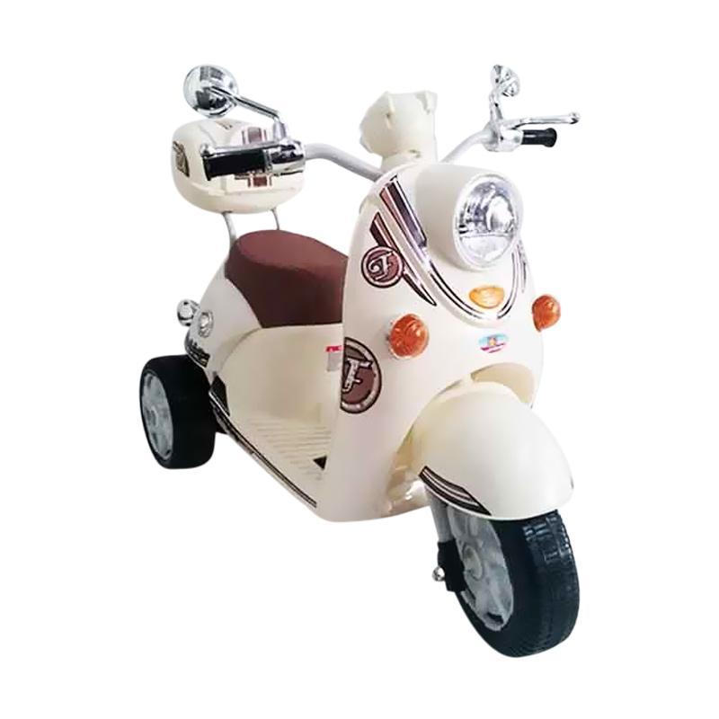 harga PMB M338 Scoopy Mainan Motor Aki Anak Ride On Toys - Cream Blibli.com