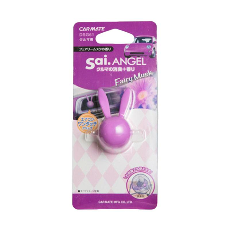 Carmate DSG61 SAI. Angel Rabbit Air Fairy Musk - Parfum Mobil Klip AC - Car Air Freshener Vent Clips