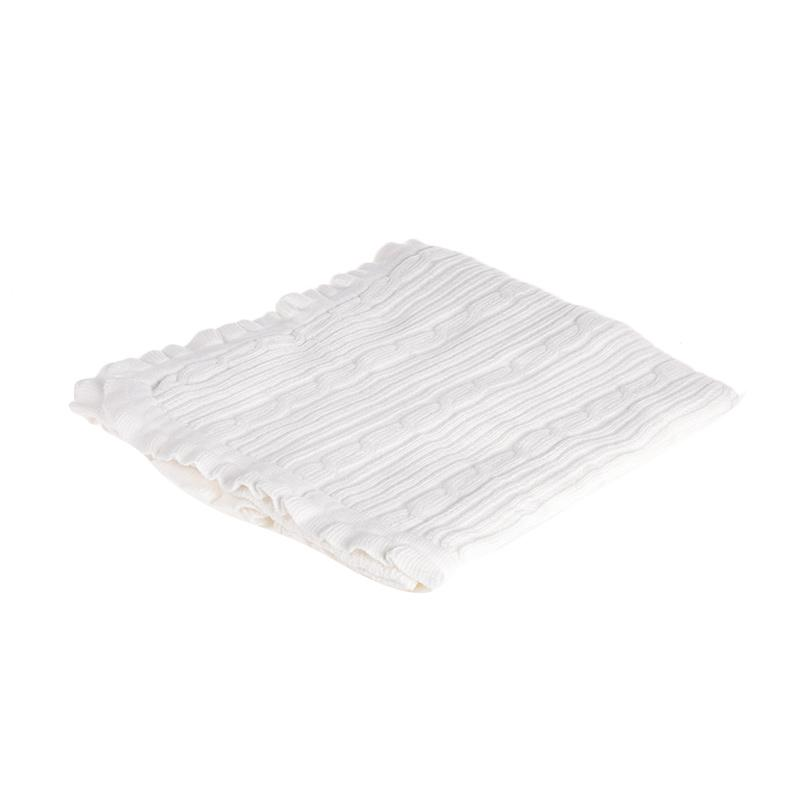 Browko Baby BCB-201017-209 Baby Blanket Rajut With Braided Line Outlook Selimut Bayi  - Cream