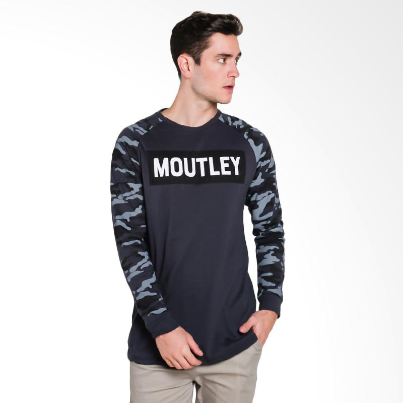 Moutley Male T-Shirt Atasan Pria - Grey [2312 323121712]