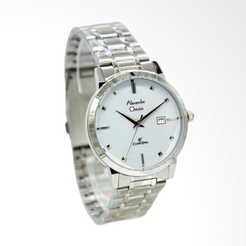 Alexandre Christie 8528 Jam Tangan Wanita - Silver White